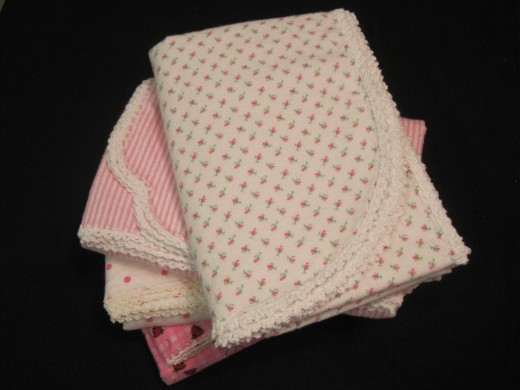 Easy Crocheted Edging For A Shaped Baby Blanket Number 4 In A