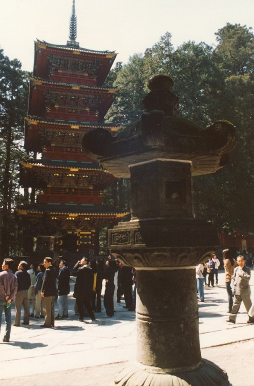 The pagoda at the Toshogu Shrine.