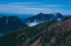 View from summit of Nantai looking towards Mt. Taro.