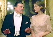 Uncle Matthew, played by Alan Bates, and Fanny, played by Rosamund Pike.