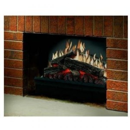 electric fireplace | image credit: Dimplex and Amazon