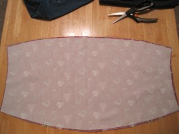 Use lining as a pattern for interfacing.