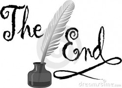 The End. Finally finished first draft
