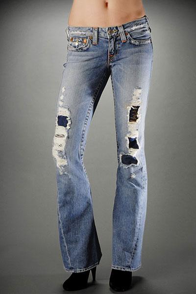 True Religion Patchwork Jeans
