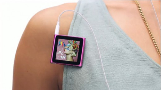 Apple's first small iPod with a touchscreen.