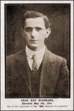 Sean MacDermott executed after the Easter Rising 1916 in Ireland