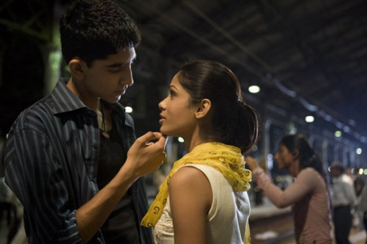 Dev Patel and Freida Pinto in Slumdog Millionaire