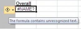 Explanation for the formula error message