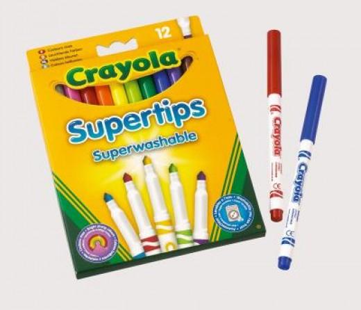 Crayola Supertip art markers.    Image - Crayola.co.uk