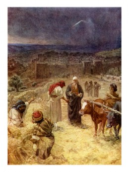 David purchasing the threshing-floor of Ornan the Jebusite. From abundancesecrets.com