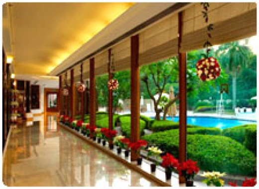 Backside view of ITC Maurya Sheraton Hotels Delhi