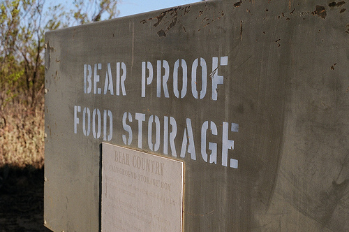 bear proof food storage