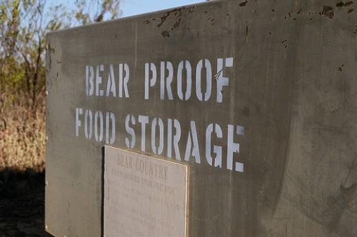 bear proof food storage