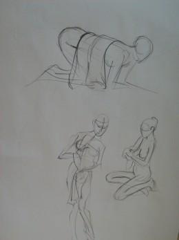 human female sketchbook page