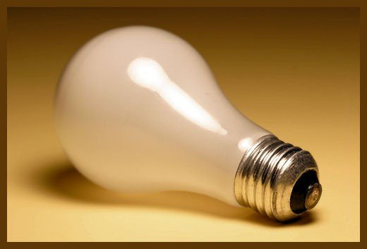 Can you guess where this light bulb was found?