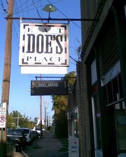 Outside of Doe's Eat Place,  Little Rock, AR