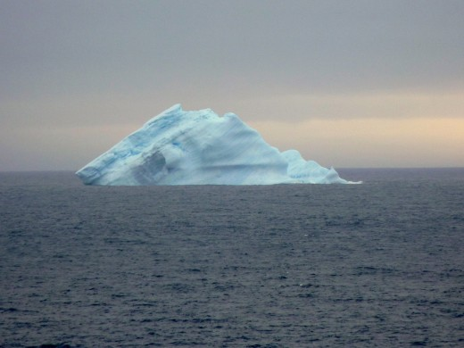 One of many blue icebergs