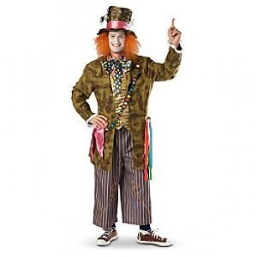 Alice in Wonderland Mad Hatter Costume for Adult