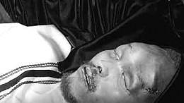 Biko's body in the coffin