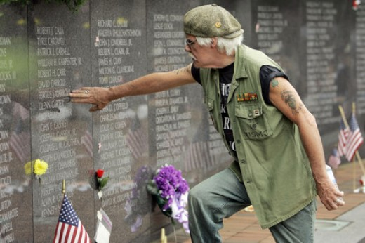Veteran looks for the names of old friends.