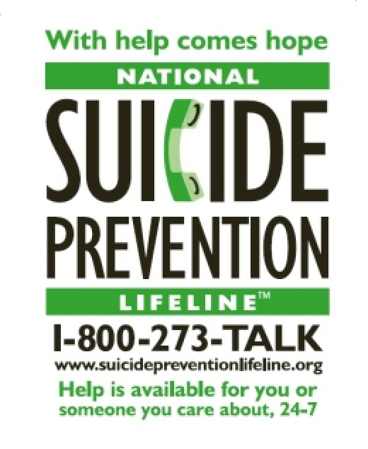 Call a suicide hotline if you or someone you know is feeling suicidal