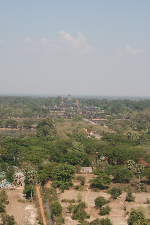 Angkor from the balloon