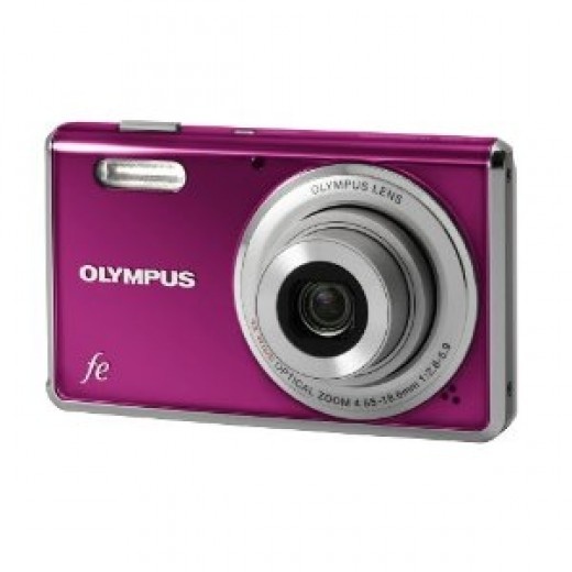Olympus FE-4000 12MP Digital Camera with 4x Wide Angle Optical Zoom and 2.7 inch LCD (Magenta)