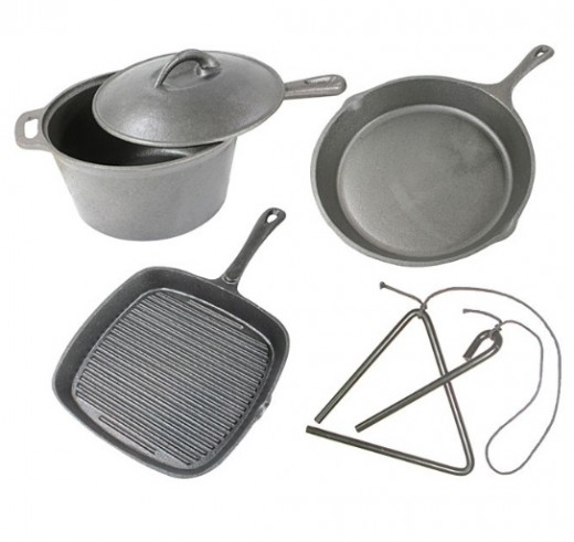 Camping cooking supplies