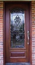 Custom Glass and Mahogany Door emeralddoors.com