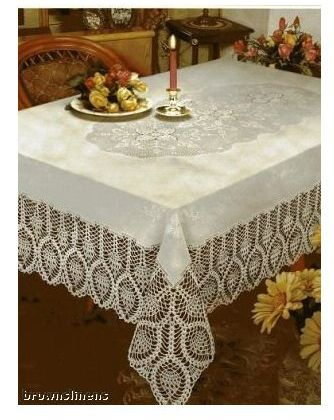 Crochet Vinyl Lace Tablecloth