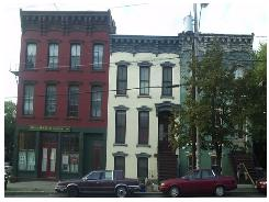ahc(left), independent transitional home (center), and family housing (right).