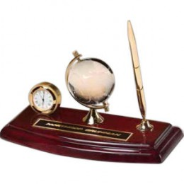 clock and crystal globe - ideal for promotional gifts, corporate gifts