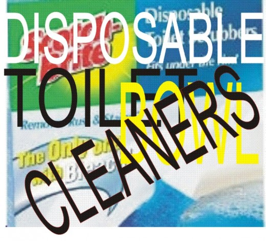 DISPOSABLE TOILET BOWL CLEANERS