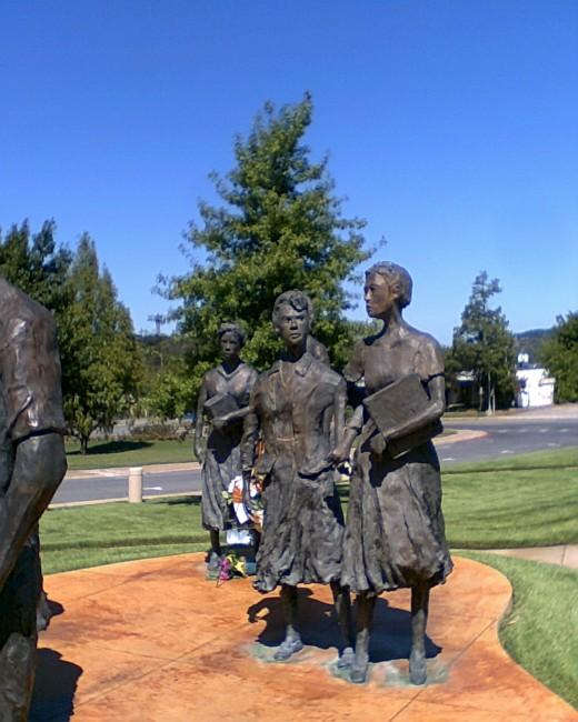 Testament, the sculpture honoring The Little Rock Nine