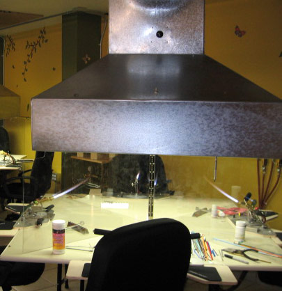 Exhaust fan and vent hood © Janet Crosby