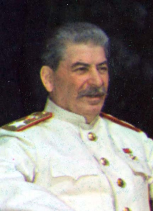"Marshal Stalin. Photographed after ""A good meal""."