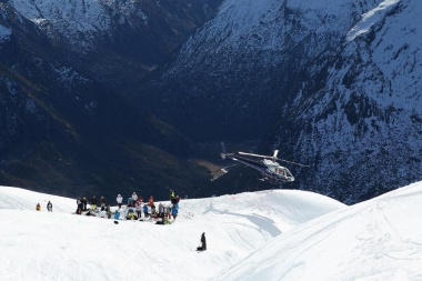 The World Heli Challenge which took place inside the national park.