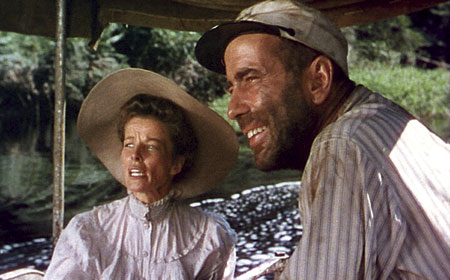 Katharine Hepburn and Humphry Bogart in The African Queen