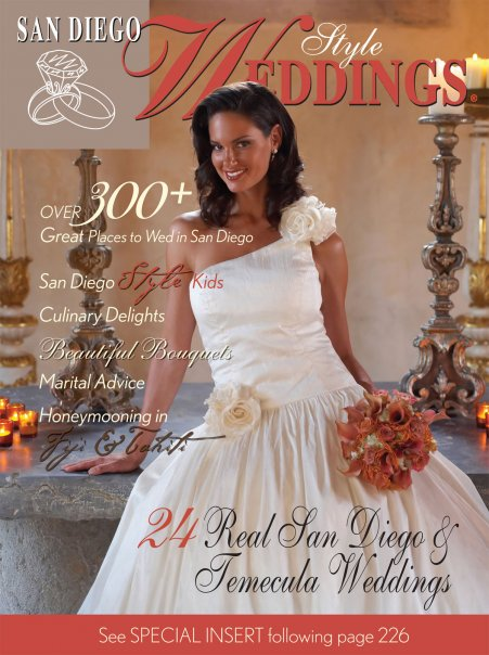 Elyse Reuben Featured On The Covers Of San Diego Style Weddings Magazine, Eliza Magazine & Grace Ormonde Wedding Style Magazine