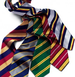 I have to tie my husband's ties for him