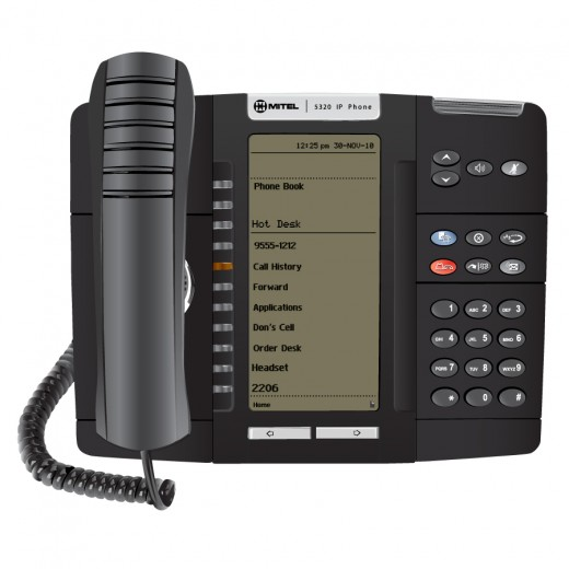 Self-labeling Mitel 5320 IP Phone