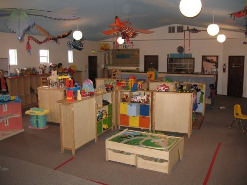 Colorful and bright interior of Westside Shorty's preschool and day care