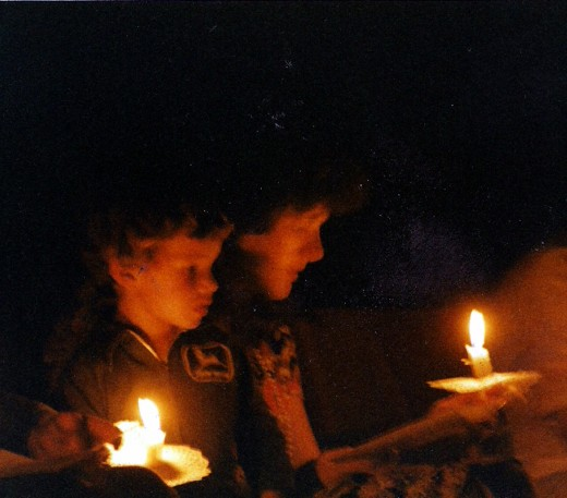 This was taken some 30 years ago, no flash, hand held with an exposure of 3 seconds, 200 ASA film.