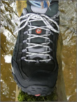 My Merrell Intercepts getting their first taste of serious off road action.