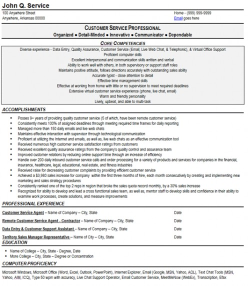professional profile for resume customer service diamond geo engineering services resume templates customer service representative