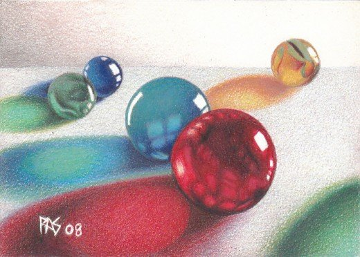 Robert's Marbles painted by Robert A. Sloan
