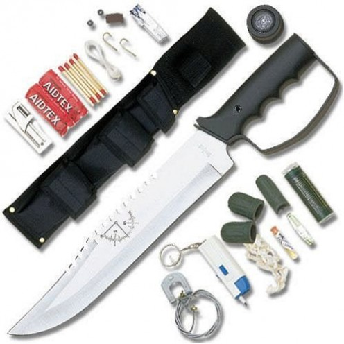 United Cutlery Bushmaster Ultimate Survival Knife with Flashlight and Kit