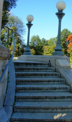 Stairs of the bandstand on Boston Common