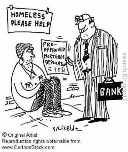 Unfortunately, there is more truth to this cartoon than many would like to think. We have encountered such an individual lending at 75 percent on a monthly rotation and this works out to 900 % per year.