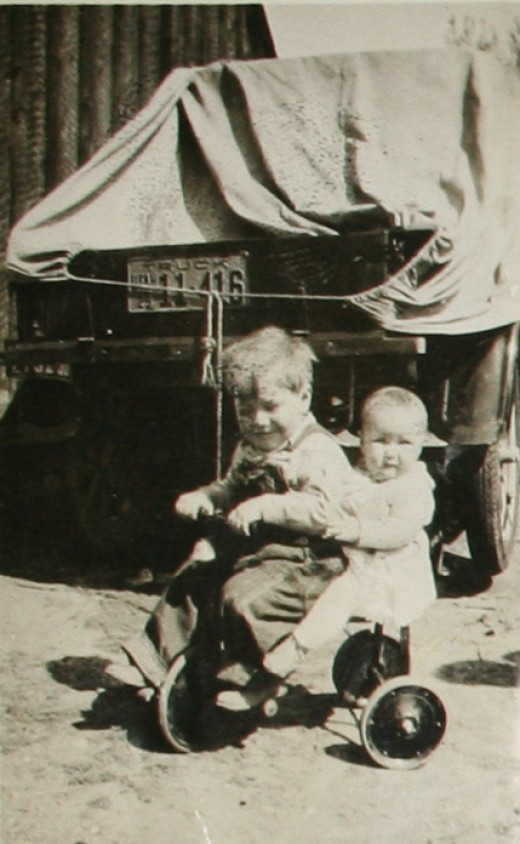 Dad and his sister when they were little children.